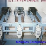 Hydraulic system for spin pack dismantling - 3